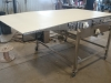 """36"""" wide auto tracking belt conveyor with tip up nose"""